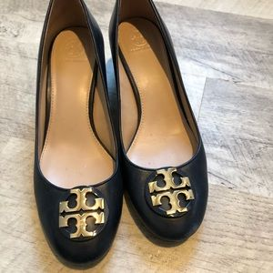 Tory Burch Navy block heels